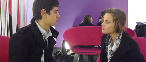 Interview à l'espace VIP