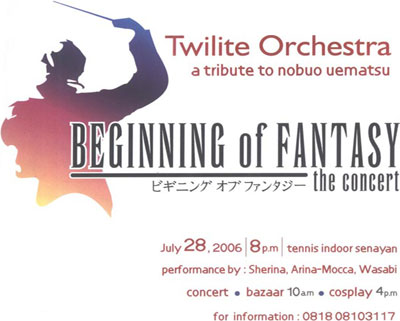 Beginning of Fantasy: The Concert A Tribute to Nobuo Uematsu